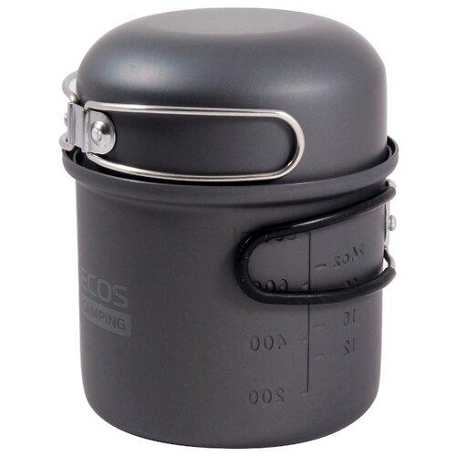 Набор туристической посуды ECOS CW020, 2 шт. черный