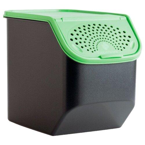 """Tupperware Контейнер """"Свежесть"""" 5500 мл черный/зеленый"""