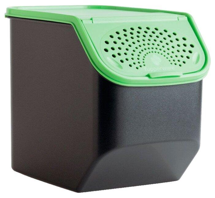"""Купить Tupperware Контейнер """"Свежесть"""" 5500 мл черный/зеленый по низкой цене с доставкой из Яндекс.Маркета (бывший Беру)"""
