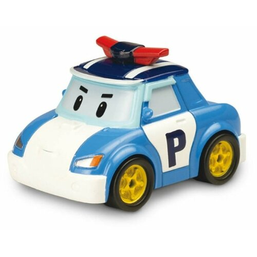 Легковой автомобиль Silverlit Робокар Поли (83162) 6 см голубой/белый