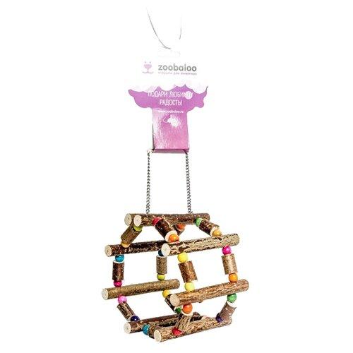 Игрушка для грызунов Zoobaloo Колесо на цепочке Сфера 10х12х12 см