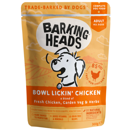 Корм для собак Barking Heads (0.3 кг) 1 шт. Bowl Lickin' Chicken паучи 300г