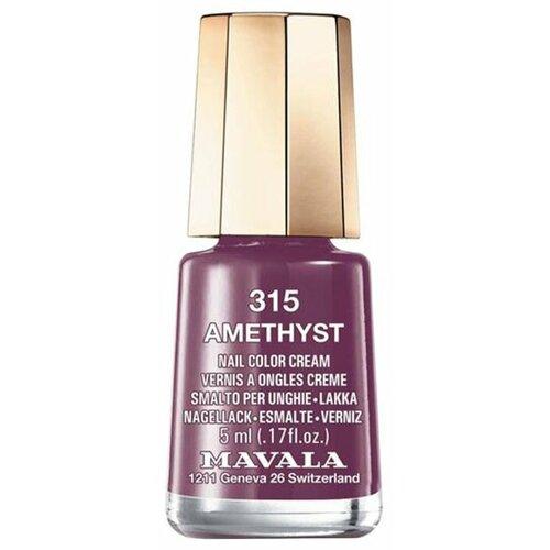 Лак Mavala Nail Color Cream, 5 мл, оттенок 315 Amethyst лак mavala nail color cream 5 мл оттенок 315 amethyst