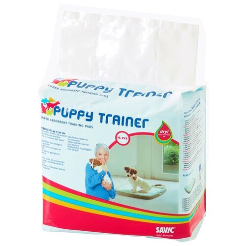 Пеленки для щенков впитывающие SAVIC Puppy Trainer Pad M 45х30 см 15 шт.