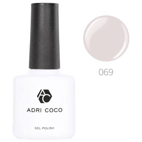 Гель-лак ADRICOCO Gel Polish, 8 мл, оттенок 069 светло-серый adricoco верхнее покрытие top gel polish с липким слоем 8 мл бесцветный