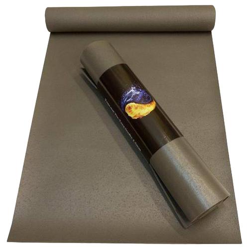 Коврик для йоги RamaYoga Yin-Yang Studio, 200х60х0.45 см серый