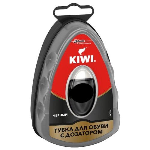 Kiwi Express Shine губка с дозатором черная губка для обуви kiwi express shine с дозатором цвет коричневый 7 мл
