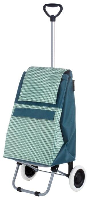 Купить Сумка-тележка Garmol 2R Telescopico Mini, зеленый в клетку по низкой цене с доставкой из Яндекс.Маркета