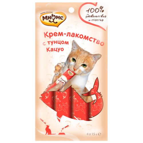 Лакомство для кошек Мнямс Крем-лакомство с тунцом Кацуо, 60 г