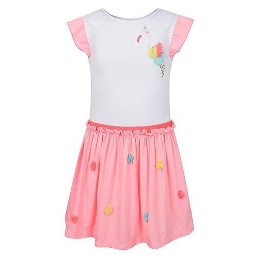 Купить Платье Billieblush размер 104, розовый/белый, Платья и сарафаны
