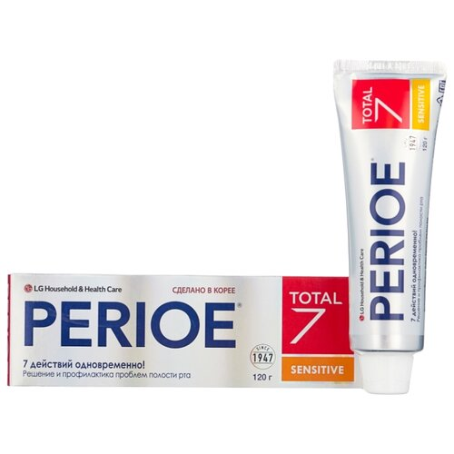 Зубная паста Perioe Total 7 Sensitive Комплексный уход 120 гЗубная паста<br>