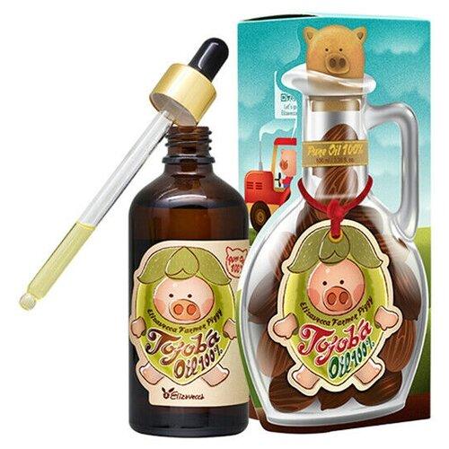 Elizavecca Farmer Piggy Jojoba Oil 100% Сыворотка для лица с маслом жожоба, 100 мл elizavecca farmer piggy argan oil 100% сыворотка для лица с аргановым маслом 30 мл