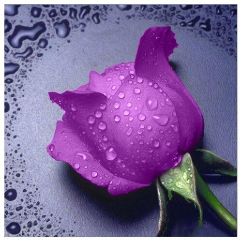 Купить Алмазная живопись Набор алмазной вышивки Сиреневая роза(АЖ-16) 22х24 см, Алмазная вышивка