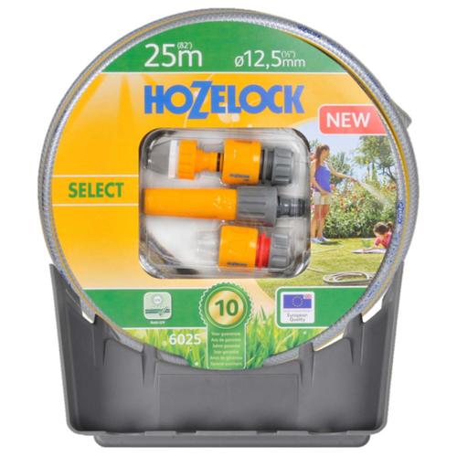 Комплект для полива HOZELOCK стартовый Select 1/2 25 м с коннекторами и наконечником для шланга серыйШланги и комплекты для полива<br>