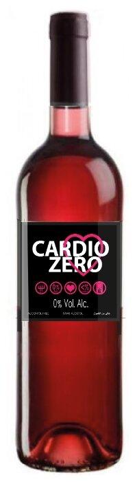 Вино безалкогольное Cardio Zero розовое сухое 0.75 л