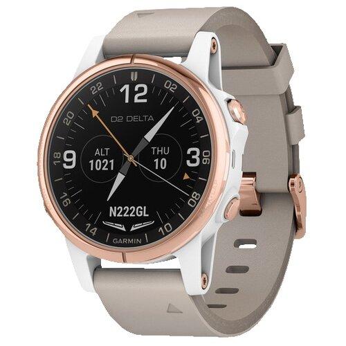 Умные часы Garmin D2 Delta S, розовое золото/бежевый