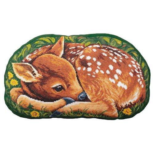 Купить PANNA Набор для вышивания Подушка Оленёнок 45 x 26.5 см (PD-7133), Наборы для вышивания