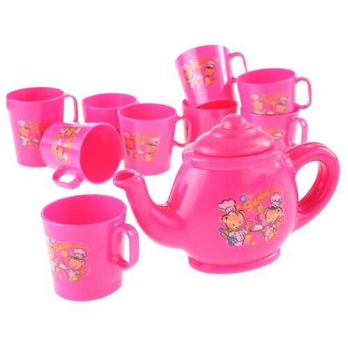 Купить Набор посуды kari Набор посуды NF2839 розовый, Игрушечная еда и посуда