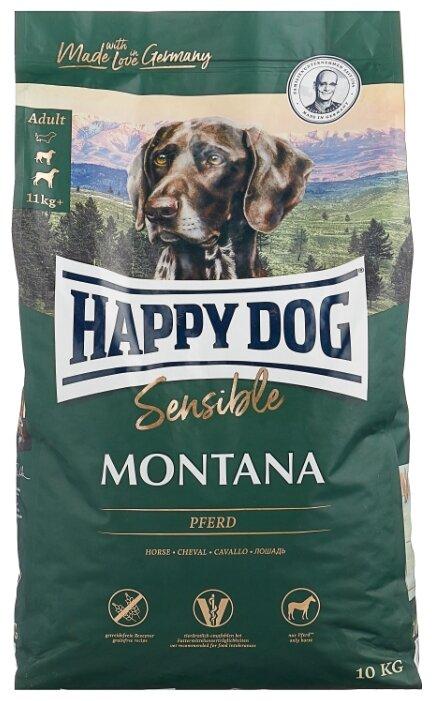 Корм для собак Happy Dog Supreme Sensible Montana для здоровья кожи и шерсти, конина