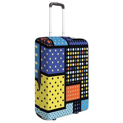 Чехол для чемодана JoyArty Красочный узор S, желтый, красный, синийЧемоданы<br>