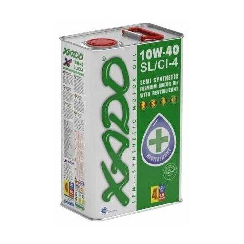 Полусинтетическое моторное масло XADO Atomic Oil 10W-40 SL/CI-4, 4 л