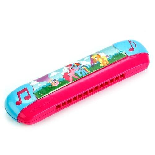 Купить Играем вместе губная гармошка My Little Pony B323587-R4 розовый/голубой, Детские музыкальные инструменты