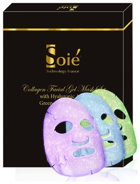 SOIE Питательные гидрогелевые коллагеновые маски для лица на основе целебных трав