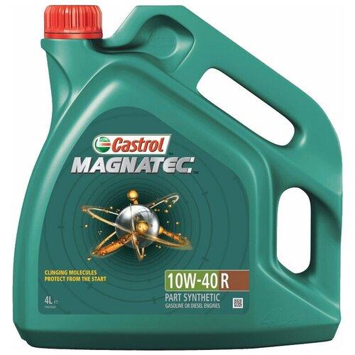 Фото - Полусинтетическое моторное масло Castrol Magnatec 10W-40 R, 4 л полусинтетическое моторное масло castrol vecton 10w 40 7 л