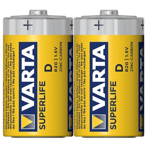 Фото - Батарейка VARTA SUPERLIFE D/R20, 2 шт. батарейка c varta superlife 2014 r14 2 штуки 01240