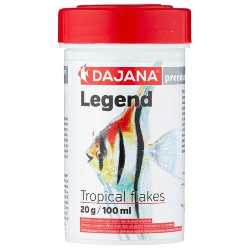 Сухой корм для рыб Dajana Pet Legend Tropical Flakes 100 мл 20 г сухой корм для рыб dajana pet malawi flakes 1000 мл 200 г