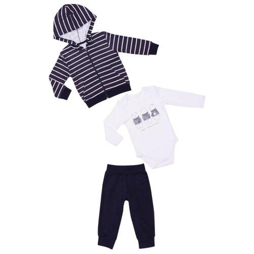 Фото - Комплект одежды ALENA размер 92-98, белый/темно-синий комбинезон alena размер 92 98 18 красный белый клубнички