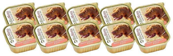 Корм для собак BioMenu Adult консервы для собак филе цыпленка в желе
