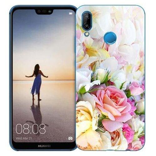 Чехол Gosso 710350 для Huawei P20 Lite нежные розы чехол для сотового телефона gosso cases для huawei p20 lite soft touch 186905 темно синий