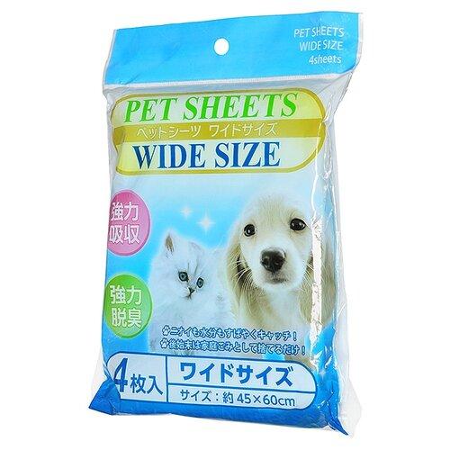 Пеленки для собак впитывающие Komoda Paper Pet Sheets Wide Site 60х45 см белый 4 шт.