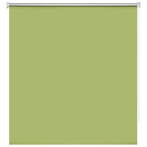 Рулонные шторы BLACKOUT / БЛЭКАУТ 120 см х 160 см Зеленый Плайн DECOFEST