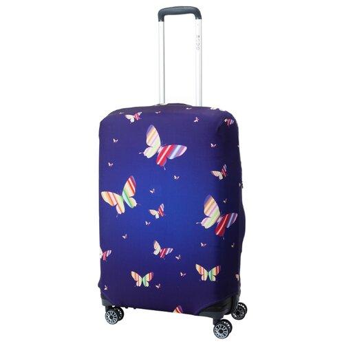 Чехол для чемодана METTLE Butterfly M, синийЧемоданы<br>
