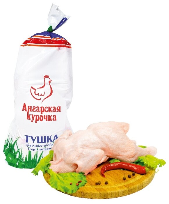 Ангарская птицефабрика Тушка цыпленка-бройлера замороженная, 1 кг