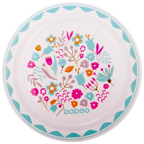 Фото - Тарелка baboo Flora (9-018) белый/голубой/розовый поильник baboo flora 8 104 розовый