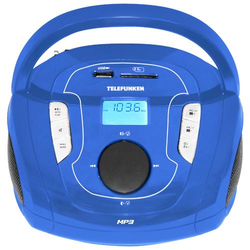 Магнитола TELEFUNKEN TF-SRP3471B синий магнитола telefunken tf srp3446