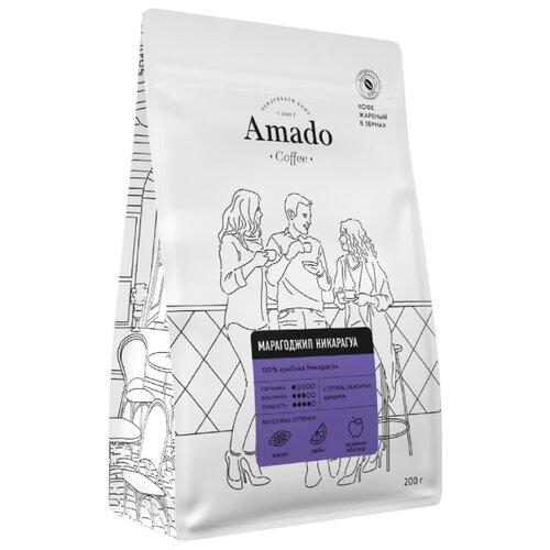 Фото - Кофе в зернах Amado Марагоджип Никарагуа, 200 г кофе в зернах amado вишня 200 г