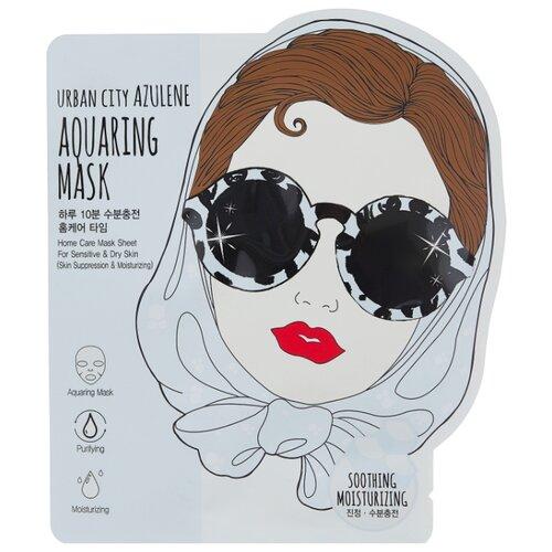 Urban Dollkiss тканевая маска Urban City Azulene Aquaing Mask Soothing-Moisturizing, 25 г azulene lotion