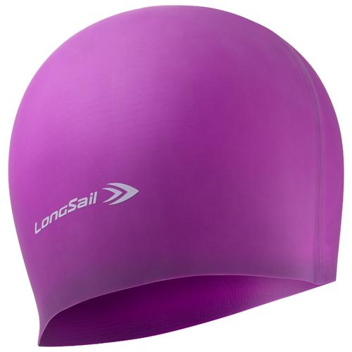 Шапочка для плавания LongSail 1/240 фиолетовый шапочка для плавания indigo объемный рисунок розы цвет фиолетовый