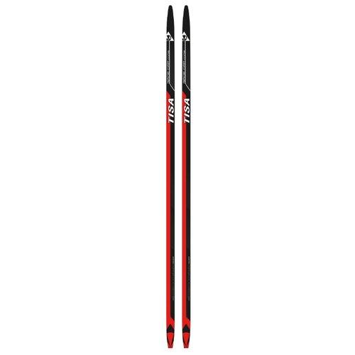 Беговые лыжи Tisa Race Cap Combi красный/черный 194 см