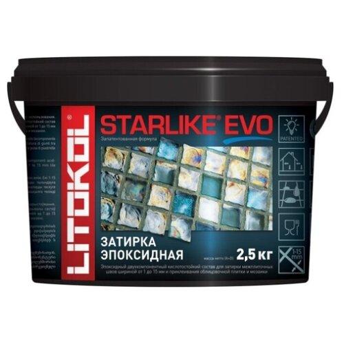 Эпоксидная затирочная смесь LITOKOL STARLIKE EVO S.600 Giallo Vaniglia, 2,5 кг