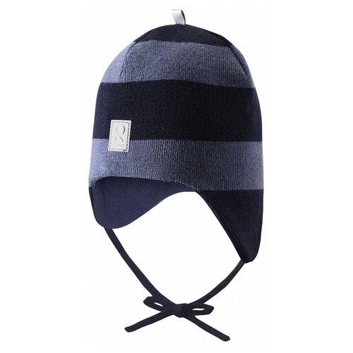 Купить Шапка Reima размер 46, синий/серый, Головные уборы