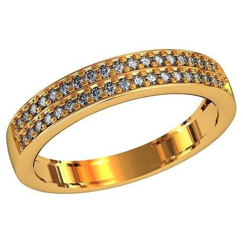 Фото - Приволжский Ювелир Кольцо с 38 фианитами из серебра с позолотой 242997-FA11, размер 19 приволжский ювелир кольцо с 65 фианитами из серебра с позолотой 252119 fa11 размер 19 5