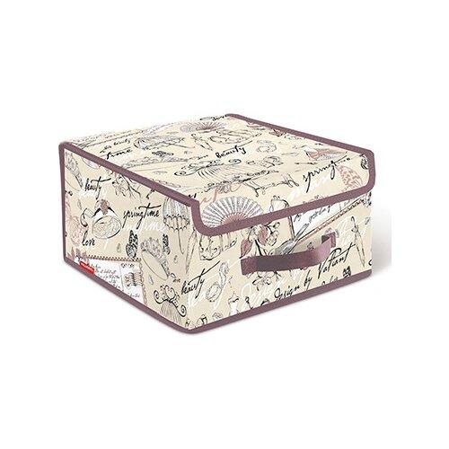 Valiant Короб стеллажный с крышкой BOX-LS 16х30х28 см Romantic короб стеллажный valiant egypt двухсекционный 50 х 30 х 20 см