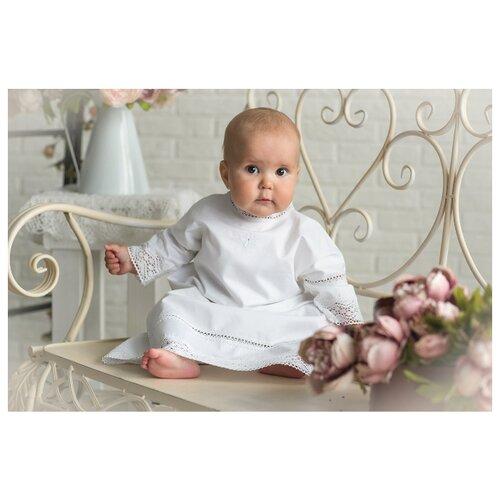 Рубашка Alivia Kids размер 0-3 мес, белый