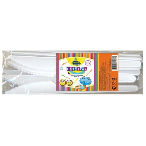 Celesta Ножи одноразовые пластиковые 16,5 см (12 шт.) белый