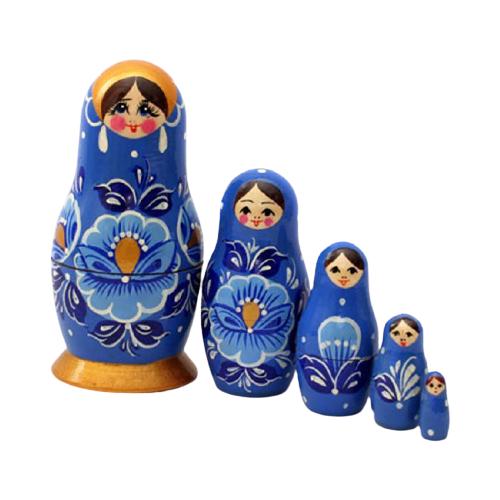Матрешка MILAND Полевые цветы, 5 кукол